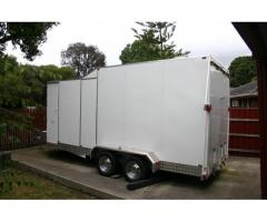 ENCLOSED CAR TRAILER AS NEW SUIT SMALL TO MEDIAM  CAR LOTS OF EXTRAS READY TO GO
