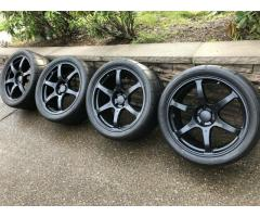 Nissan GT-R Volk Racing VR G2 Wheels And Tires