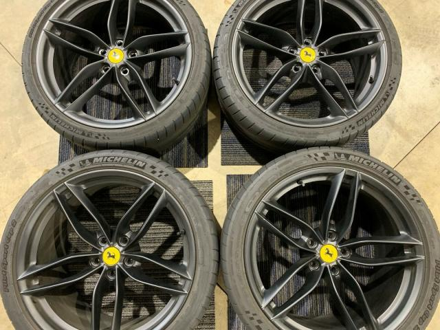 Ferrari 488 OEM Wheels Black w/ Michelin Tires