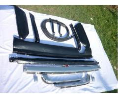 Mercedes Benz W107 R107 Stainless Steel Bumpers
