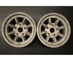 "Porsche 911 ST 9 x 15"" Original Minilite Wheels (pair)"