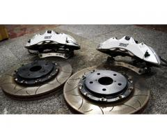 USED Genuine Subaru Impreza RA-R R205 STi Brembo 6 Pot Front Brake Kit